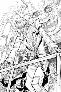 batman arkham city art gallery containing characters concept art and promotional pictures - Batman Arkham City Coloring Pages
