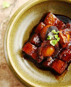 The ultimate indulgence at @Four Seasons Hotel Beijing? Braised pork belly with abalone in black truffle soy sauce. Click through for the recipe.