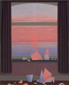 Le monde des images -   René Magritte 1950.  Belgian:1898-1967  Oil on canvas, 100 x 80.6 cm.
