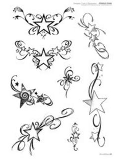 If I would ever get the courage up for a tattoo, these are cute!  I love stars!