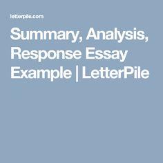 sample analysis essay writing
