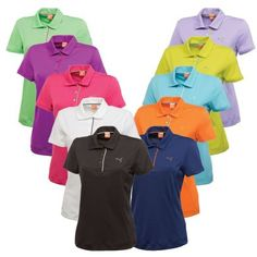 Available in an array of bold solid colors, the lightweight moisture wicking ladies' Puma Tech Polo is the perfect staple for any women's golf wardrobe. Watch for them worn by LPGA players Lexi Thompson and Anna Nordqvist as well as Big Break star and Puma/Cobra fashion plate Blair O'Neal.