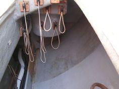 Line Storage in a Cockpit Lazarette on a Pearson 365