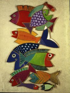 Laurel Burch legends by Burch - Jimali McKinnon - Веб-альбомы Picasa Sea Crafts, Fish Crafts, Laurel Burch, Image Of Fish, Fabric Fish, Clay Fish, Wooden Fish, Fish Sculpture, Fish Design