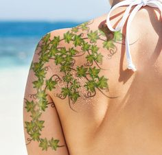 11 Beautiful Vine Tattoos on Shoulder                                                                                                                                                      More
