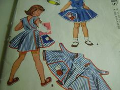 Vintage 1950's McCall's 1921 Child's Apron  Miss by TheLastPixie