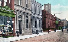 St Helens Post Office unused old postcard by Valentines