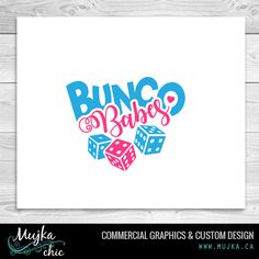 BUNCO BABES lettering clipart. Custom Graphics. www.mujka.ca Word Art, Custom Design, Commercial, Cricut, Clip Art, Graphics, Lettering, Words, Projects