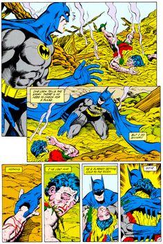 "The Death Of Jason Todd — Batman (Jan. ""A Death Of The Family Part III"" — This comic is what got me into the batman fandom! Comic Book Artists, Comic Book Heroes, Comic Books Art, Comic Art, I Am Batman, Batman Vs Superman, Batman Robin, Spiderman, Red Hood Jason Todd"