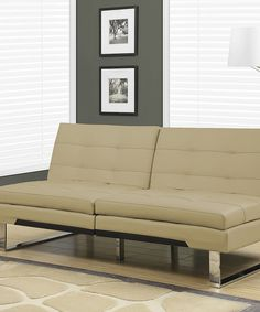 Taupe Split-Back Click-Clack Futon by Monarch Specialties #zulily #zulilyfinds