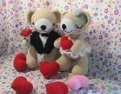 Cute Bear wedding PDF crochet pattern by Chonticha on Etsy