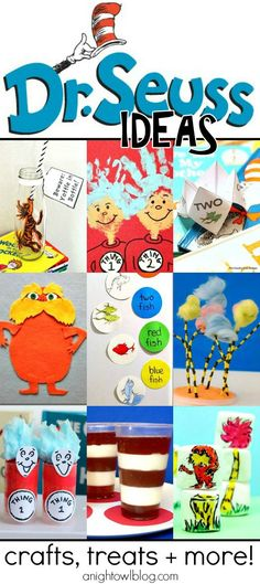 So many great Dr. Seuss ideas in one place - crafts, treats and more!
