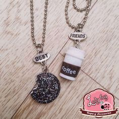 Duo Best friends Cookies and Cream Cookies And Cream, Best Coffee, Ladybug, Bugs, Best Friends, Personalized Items, Chokers, Necklaces, Creativity