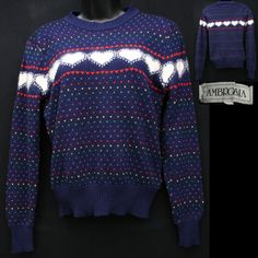 80's sweater-- had a navy one with red hearts across the chest. It was my favourite sweater. I cried when it didn't fit anymore.