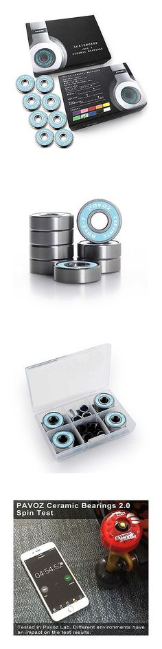 Bearings 36624: Pro Skateboard Ceramic Bearings V2.0 High Speed No Rust Abec-7 Pavoz Sky Blue -> BUY IT NOW ONLY: $43.38 on eBay!