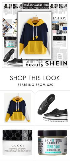"""""""SHEIN contest"""" by maiah-bee ❤ liked on Polyvore featuring Gucci and Skin & Tonic"""