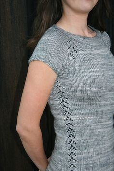 Phryne Pullover by Taiga Hilliard Designs. malabrigo Silky in Cape Code Gray.