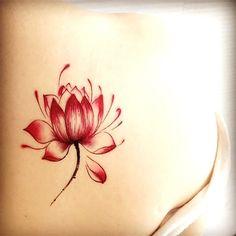 Red or Black lotus flower temporary tattoos waterproof tattoo sticker for men women arm leg body art painting Fake Tattoos, Pretty Tattoos, Beautiful Tattoos, Temporary Tattoos, Body Art Tattoos, Small Tattoos, Bow Tattoos, Wing Tattoos, Tattos