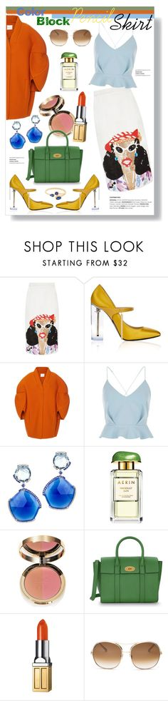 """Pencil Skirt"" by mandiek-2 ❤ liked on Polyvore featuring Tata Naka, Richard Braqo, Delpozo, River Island, Estée Lauder, Ciaté, Mulberry, Elizabeth Arden, Chloé and GetTheLook"