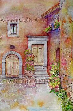 Glenna Johnson- Tuscany - watercolor