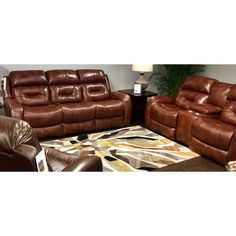 Southern Motion Showcase Reclining Loveseat Reclining Type: Power, Adjustable Headrest: Yes, Upholstery Color: Brown Leather Reclining Loveseat, Reclining Sectional, Recliner, Loveseat Sofa, Sofas, Living Room Sofa, Sofa Furniture, Living Room Furniture, Tufting Buttons