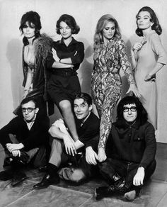Publicity still for What's New Pussycat?  (Paula Prentiss, Romy Schneider, Ursula Andress, Capucine, Woody Allen, Peter O'Toole, Peter Sellers), 1965