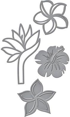 Shapeabilities Tropical Florals Etched Dies
