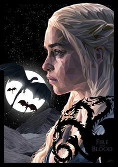 Daenerys Targaryen - Game of Thrones - Simon Delart targaryen tattoo targaryen tattoo Daenerys Targaryen, Cersei Lannister, Khaleesi, Got Dragons, Mother Of Dragons, Winter Is Here, Winter Is Coming, Game Of Thones, Game Of Throne Daenerys