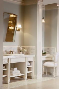 Bathroom With Makeup Vanity bathroom vanity with makeup vanity attached | choice of sink and
