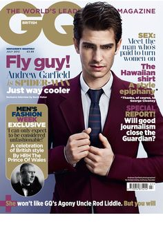 I think this magazine is just full of hot men in suits. Like the happy place in my imagination :)