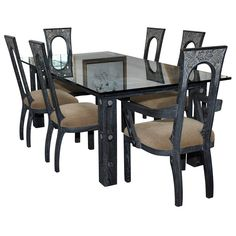 1stdibs | BEAUTIFUL ART DECO DINING SET BY JAMES MONT