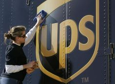 Cleaning a UPS (United Parcel Service) delivery vehicle