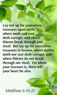 Matthew 6:19-22 KJV