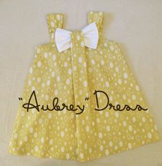 Aubrey  Bow Dress Sewing Pattern Girl's Dress by RubyJeansCloset