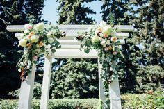 The ceremony took place in Lauren's parents' backyard.