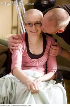 Dad kissing his daughter  Pray for those who fight to live.