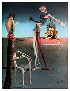 Surrealismo - Woman with a Head of Roses - Salvador Dalí - 1935 - foi um movimento artístico e literário nascido em Paris na década de 1920, inserido no contexto das vanguardas que viriam a definir o modernismo no período entre as duas Grandes Guerras Mundiais. Reúne artistas anteriormente ligados ao dadaísmo ganhando dimensão mundial.