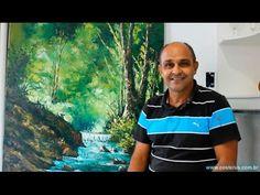 Como Pintar uma Paisagem com espátula - Tinta a óleo sobre Tela - Passo a Passo | Professor Costerus - YouTube