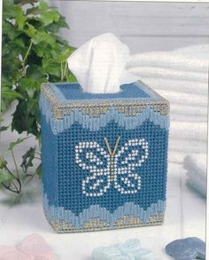 Plastic Canvas Tissue Box Patterns | Plastic Canvas Bear Free Patterens | This is an ... | P.C. Tissue box ...