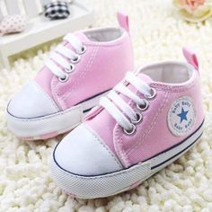 New Fashion Cute Stars Baby Shoes 3 Colors Lace up Shallow Newborn Infant Kid First Walkers