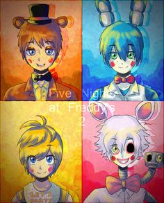 FNAF2 - The NEW Animatronics by StarTheYoshi.deviantart.com on @deviantART