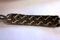 Double Twist Patterned Woven Friendship Bracelet by TheGringaHippie on Etsy