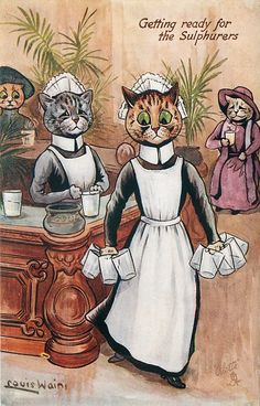 GETTING READY FOR THE SULPHURERS (1907) Louis Wain