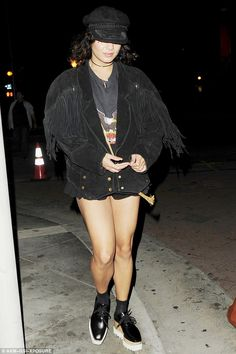 Shoe in: Vanessa Hudgens gave her 5ft1in figure a big boost with $995 Stella McCartney 'El...