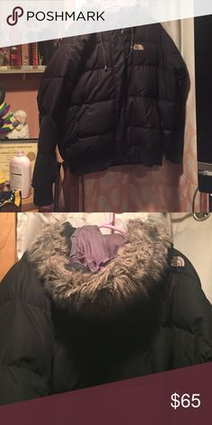 Winter Coat Black, winter coat. Haven't worn in a few years but when I did I literally loved it. Fur is a little matted but still a lot of life left in coat North Face Jackets & Coats Puffers