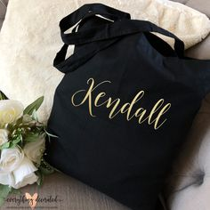 Custom tote bag - Fill with goodies for Mom this upcoming Mother's Day, or all the essentials needed for the Bachelorette Party! Bridesmaid Tote Bag Bridesmaid Gift Set Bridal Party Totes Mother of the Bride Gift Mother of the Groom Tote Bag Bridesmaid Tote Bags, Bridesmaid Gift Boxes, Bridesmaids, Personalized Gifts For Her, Personalized Christmas Gifts, Christmas Presents For Dad, Wedding Ring Box, Wedding Bands, Dream Wedding