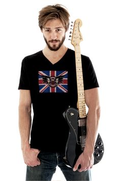 Rock and Roll Baby! Union Jack & Skull Tee - ROCKING!
