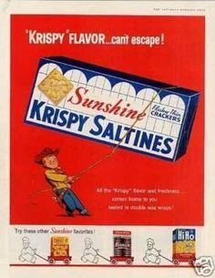 Sunshine Krispy Crackers (1956)