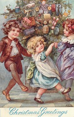 Vintage Christmas Postcard - Ada Leonora Bowley - English - (1866-1943)