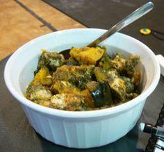 Za taar Chicken and Squash  1 lb chicken breast, diced  • 2 cups diced acorn squash  • 2 tsp coconut oil  • 3 Tbsp za'taar